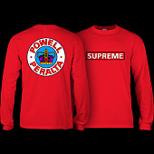 Powell Peralta Supreme L/S Shirt Red