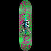 Powell Peralta Skull & Sword Blem Skateboard Deck Pink/Green - 8 x 31.45