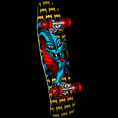 Powell Peralta Mini Cab Dragon II Complete Skateboard Assembly - 8 x 29.5