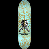 Powell Peralta Skull and Sword Skateboard Deck Turquoise - Shape 249 - 8.5 x 32.08