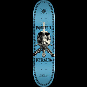 Powell Peralta Skull And Sword Chainz Skateboard Deck Blue - 8.5 x 32.08