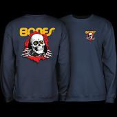 Powell Peralta Ripper Midweight Crewneck Sweatshirt - Navy