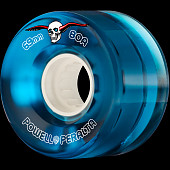 Powell Peralta Clear Cruiser Skateboard Wheels Blue 69mm 80A 4pk