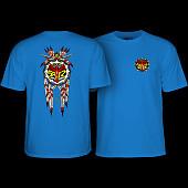 Powell Peralta Steve Saiz Totem T-Shirt Royal Blue