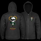Powell Peralta McGill Skull and Snake Hooded Zip Sweatshirt - Black