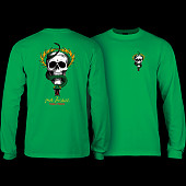 Powell Peralta Skull & Snake L/S Shirt Kelly Green