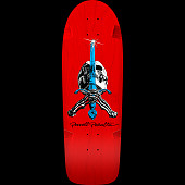 Powell Peralta OG Rodriguez Skull and Sword Skateboard Deck Red - 10 x 30