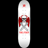 Powell Peralta Halo Bolt Skateboard Deck White - Shape 249 - 8.5 x 32