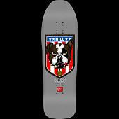 Powell Peralta Frankie Hill Bull Dog Skateboard Deck Silver Reissue - 10 x 31.5 Blem