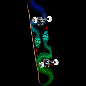 Powell Peralta Snakes '15' Complete Skateboard Black - 8.25 x 32.5
