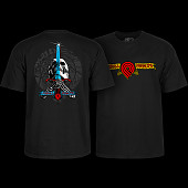 Powell Peralta Triple P Skull and Sword T-shirt Black