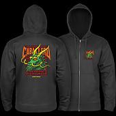 Powell Peralta Cab Street Hooded Zip Sweatshirt - Black