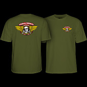 Powell Peralta Winged Ripper T-shirt Military Green