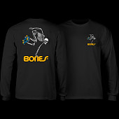 Powell Peralta Skateboarding Skeleton YOUTH L/S - Black