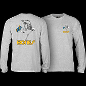 Powell Peralta Skateboarding Skeleton YOUTH L/S - Athletic Heather