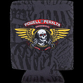 Powell Peralta Winged Ripper Koozie Black