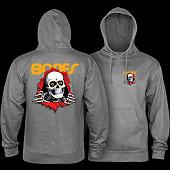Powell Peralta Ripper Hooded Sweatshirt Mid Weight Gunmetal Heather