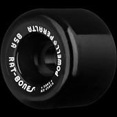 Powell Peralta Rat Bones Skateboard Wheels 60mm 85a - Black (4 pack)