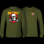 Powell Peralta Ripper L/S Shirt Military Green