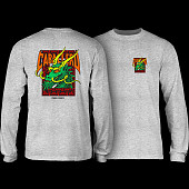 Powell Peralta Caballero Sreet Dragon L/S Shirt Athletic Heather Grey