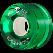 Powell Peralta Clear Cruiser Skateboard Wheels Green 66mm 80A 4pk