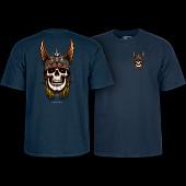 Powell Peralta Andy Anderson Skull T-Shirt - Navy
