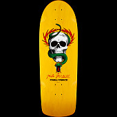 Powell Peralta mcGil Skull and Snake Skateboard Deck Yellow - 10 x 31.125