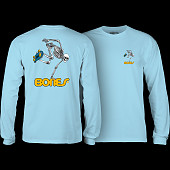 Powell Peralta Skateboarding Skeleton L/S T-shirt Powder Blue
