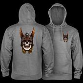 Powell Peralta Andy Anderson Skull Hooded Sweatshirt Mid Weight Gunmetal Heather
