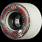 Powell Peralta Snakes Skateboard Wheels 66mm 75a 4pk White