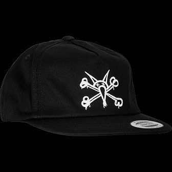 Powell Peralta Vato Rat Snap Back Cap - Black
