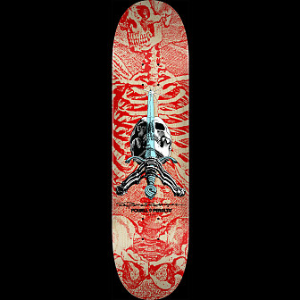 Powell Peralta Skull and Sword Skateboard Deck Red 242 K20 - 8 x 31.45