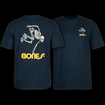 Powell Peralta Skateboarding Skeleton T-shirt - Navy