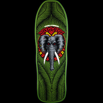 Powell Peralta Vallely Elephant Skateboard Deck GREEN - 10 x 30.25