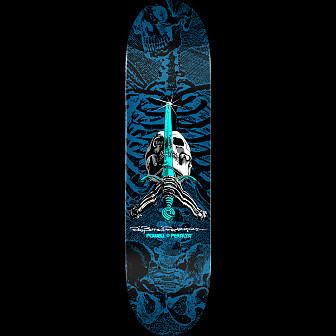 Powell Peralta Skull & Sword Blem Skateboard Deck Blue 247 K20 - 8 x 31.45