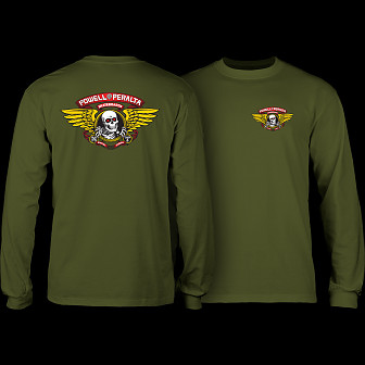 Powell Peralta Winged Ripper L/S T-shirt Military Green
