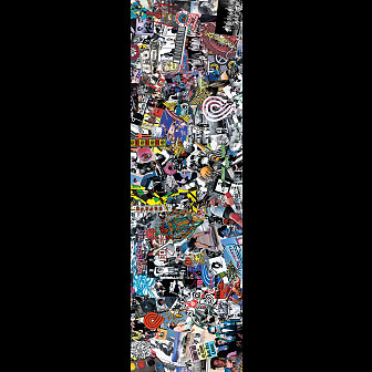 Powell Peralta Grip Tape Sheet 9 x 33 Collage (White)