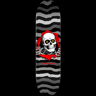 Powell Peralta Ripper Skateboard Deck Gray - Shape 249 - 8.5 x 32.08