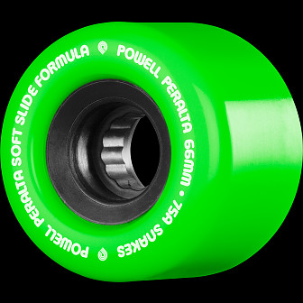 Powell Peralta Snakes Skateboard Wheels 66mm 75a 4pk Green