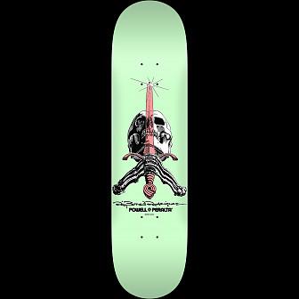 Powell Peralta Skull and Sword Skateboard Deck Pastel Green 246 K21 - 9.05 x 32.95 -