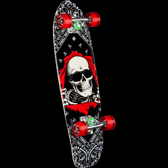 Powell Peralta Sidewalk Surfer Bandana Ripper Skateboard Cruiser Assembly - 7.75 x 27.20 WB 14.0