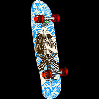 "Powell Peralta Mini Skull and Sword Complete Skateboard 186 K12 - 8.0"" x 30"""