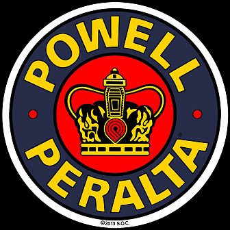 Powell Peralta Supreme 3.5 inch Sticker single