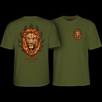 Powell Peralta Salman Agah Lion T-Shirt Military Green