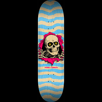 Powell Peralta Ripper Skateboard Deck Natural Blue - Shape 248 - 8.25 x 31.95