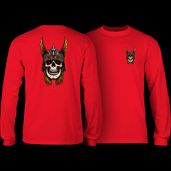 Powell Peralta Andy Anderson Skull L/S Shirt - Red