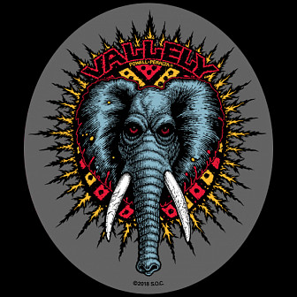 Powell Peralta Vallely Elephnat Sticker single