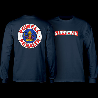 Powell Peralta Supreme L/S T-shirt - Navy