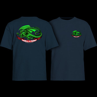 Powell Peralta Oval Dragon YOUTH T-shirt - Navy
