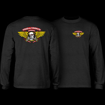 Powell Peralta Winged Ripper L/S T-shirt - Charcoal Heather